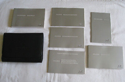 2014 INFINITI QX60 SUV OWNERS MANUAL SET w/CASE, QUICK REF, NAVIGATION (NQ)