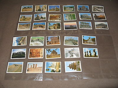 Cigarette Card Set TOM THUMB ( Players ) WONDERS OF THE ANCIENT WORLD  1984