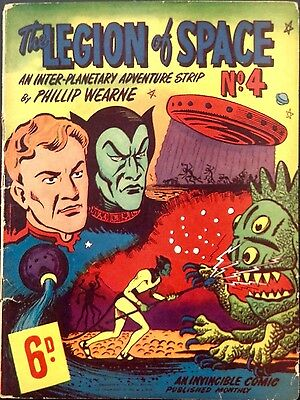 The Legion Of Space # 4 Early Australian Drawn Comic 1950S Phillip Wearne