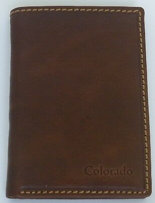 Colorado leather card holder/ small wallet