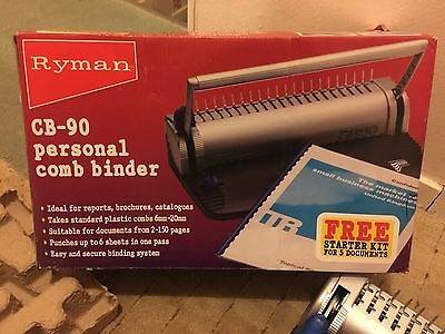 Personal Comb Binder CB-90 Ryman With Starter Pack