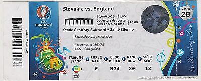 Collection Ticket Football N28 Angleterre - Slovaquie 20/06/2016 @ St Etienne