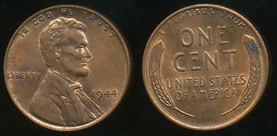 United States, 1944 One Cent, 1c, Lincoln Wheat - Uncirculated