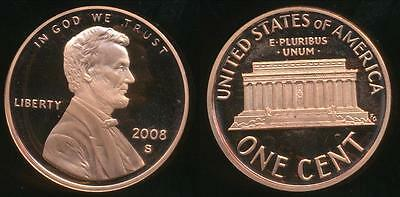 United States, 2008-S One Cent, 1c, Lincoln Memorial - Proof