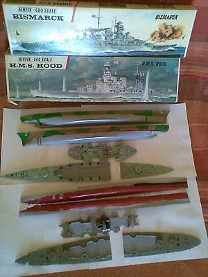 Airfix 1 600 Bismarck And Hms  Hood  Spare Parts For Restore Complete As Shown