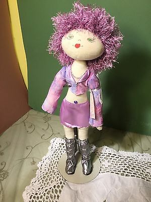 Cloth Doll.Hand made doll. 15 inches tall painted face