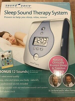 Sound Oasis Sleep Sound Therapy System, Relief from Tinnitus