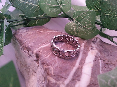 Silver Celtic Isle of Lewis band ring size M