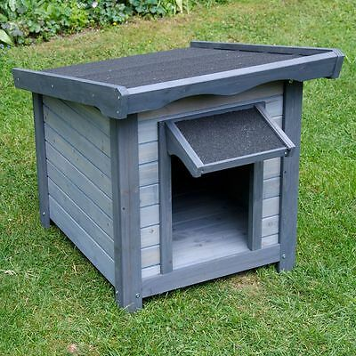 New Small Wooden Dog Kennel Cabin House Outdoor Indoor Kennels Dogs Waterproof