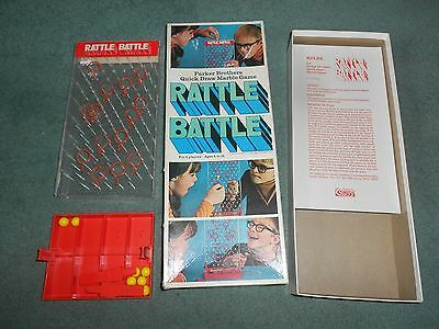 Rattle Battle Parker Bros Quick Draw Marble Game 1970 Made In Usa