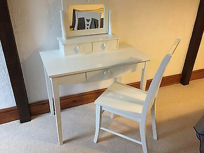 Girls Dressing Table with Mirror and chair