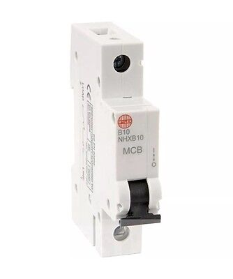 WYLEX MCB - NHXB10 10 Amp SP MCB Circuit Breaker (Replaces NSB10 type)