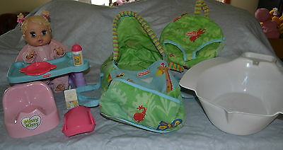Fisher Price: Doll, Low Chair, Potty, Carry Bag & Accessories