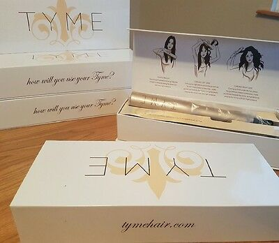 UK SELLER - TYME 2-in-1 curling iron/straightener GOLD plated TITANIUM- RESTOCK