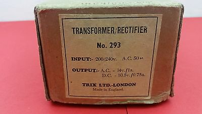 VINTAGE  TRANSFORMER RECTIFIER No 293 WITH BOX