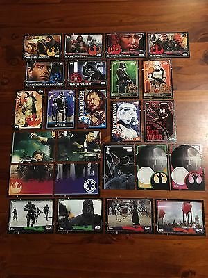 Star Wars - Rogue One (TOPPS collector cards) 24 x Cards Bulk Mixed Lot