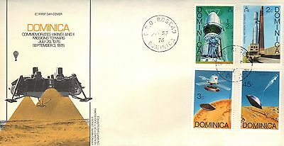 Dominican Republic First Day Cover 1976 Space Program Issue