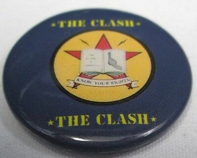 The Clash Vintage Circa 1982 Know Your Rights Badge Pin Button Punk New Wave