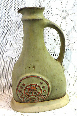 Vintage Art Pottery Tremar Cornwall Wine Flask Jug Very Country Kitchen