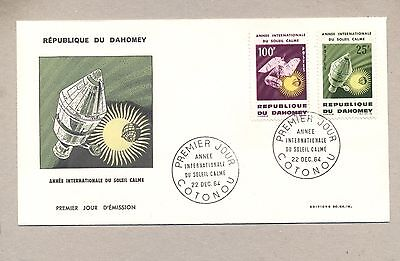 Dahomey 1964  FDC cover Space Satelite Sun Year.See scan.