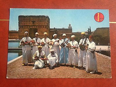 Morocco Folklore Dance Postcard North Africa
