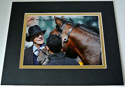 Sir Henry Cecil Signed Autograph 10x8 photo display Frankel Horse Racing & COA