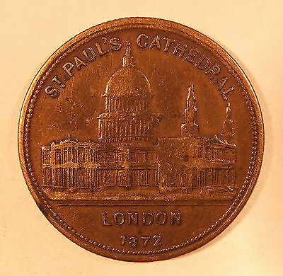 1872 St Paul's Cathedral London Prince Of Wales Token  (4071A)
