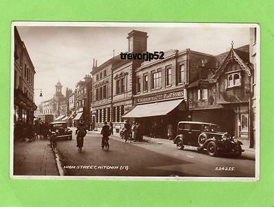 High Street Hitchin Woolworth Motor Car unused RP pc 1939 bValentines Ref A692
