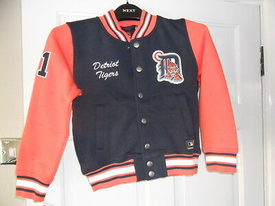 New Junior 'Detroit Tigers' Team Fleece Varsity Jacket 6-7 years