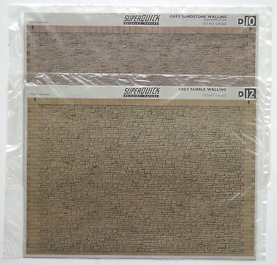 2 'Superquick' wall papers and 15 'Tiny Signs' for OO/HO Gauge