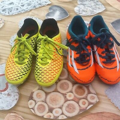 nike and adidas football boots size 1
