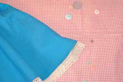 Girls' Blue Circle Skirt Age 4-5 | 1950s | Vintage Reproduction | Girls clothing