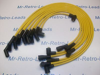 Yellow 8Mm Performance Ignition Leads For Rover Sdi 3.0 V8 Quality Hand Built Ht