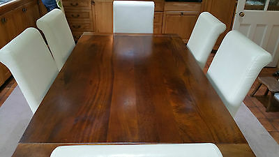Mango Wood Dining Table and Six Chairs