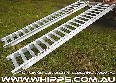 5 Tonne Capacity Tractor Loading Ramps 3.6 Metres x 450mm track width
