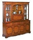 Furniture - BRADLEY reproduction Yew wood wall display unit
