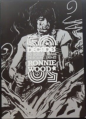 "Ronnie Wood 2012 Art Brochure ""Decades"""