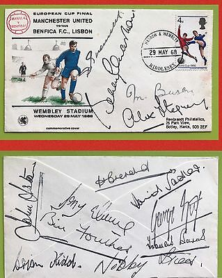 "MANCHESTER UNITED "" GENUINE SIGNED "" GEORGE BEST , BUSBY , CHARLTON etc"