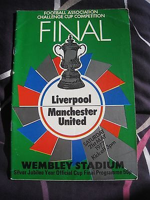 1977 FA cup final programme Liverpool v Manchester Utd