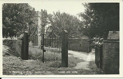 RP postcard of St Jerome'S Church, Llangwm, Monmouthshire