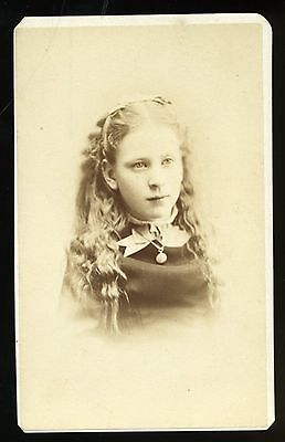 CDV Photo of Young Lady Great Hair