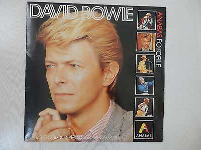 """David Bowie - 1985 Anabas Fotofile - 6 X 12"""" Photos + 3 Picture Cards"""