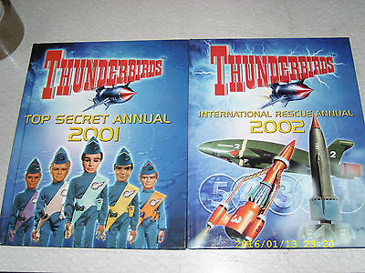 Thunderbirds Annuals 2001 2002 excellent condition