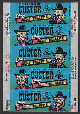 Rare A & BC The Legend of Custer Trading Card Wrapper (Topps UK)