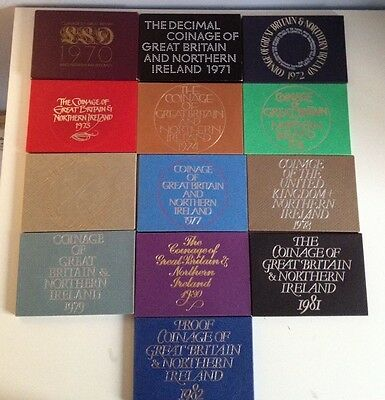 United Kingdom Coin Proof sets 1971-1988