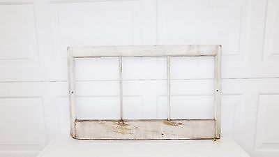 Vintage Wood Architectural Salvage Wood Window Chippy Paint Window