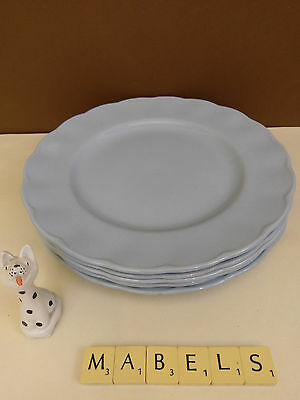 W H GRINDLEY ~PETALWARE LUPIN~ luncheon plates x 6