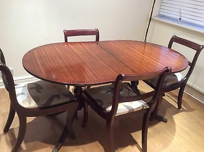 Mahogany Dining Table And Four Chairs