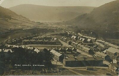 Vintage RP postcard of Park Houses, Cwmcarn, Monmouthshire