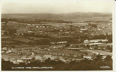 RP postcard of Blackwood from Pontllanfraith, Monmouthshire